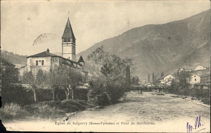 Saint-Etienne-de-Baigorry Eglise Pont de Mitchelene / Saint-Etienne-de-Baigorry /Arrond. de Bayonne
