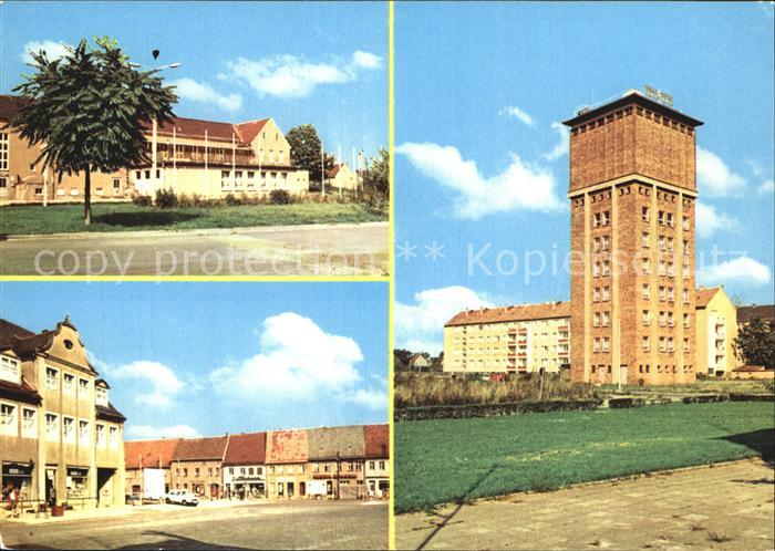 Herzberg Elster Kulturhaus Karl Marx Platz Wasserturm Schulsternwarte Kat. Herzberg Elster