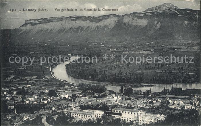 Lancey Vue generale et les Monts de la Chartreuse