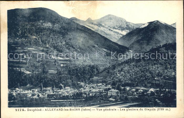 Allevard les Bains Isere Vue generale Glaciers du Gleyzin Kat. Allevard