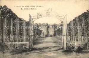 Villebon Chateau La Grille d Entree Kat. Villebon