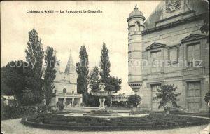 Anet Chateau La Vasque et la Chapelle Kat. Anet