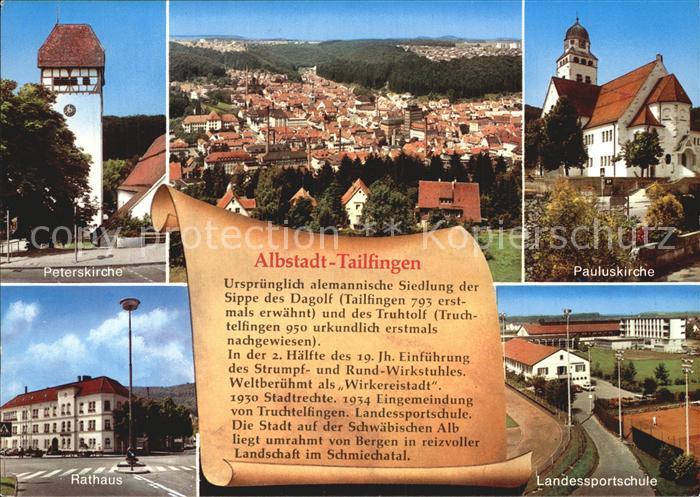 Tailfingen Albstadt Kirchen Fliegeraufnahme Fliegeraufnahme Kat. Albstadt
