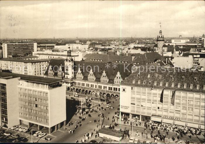 Leipzig mit altem Rathaus Kat. Leipzig