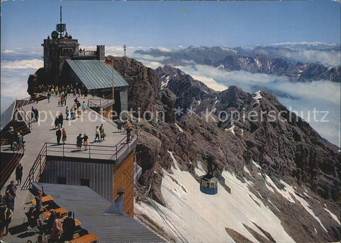 Zugspitze Gipfelstation Zugspitzbahn Kat. Garmisch Partenkirchen