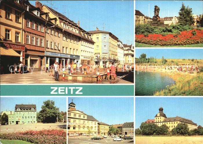 Zeitz Leninstrasse Friedensplatz Kretzschau Schloss Moritzburg Kat. Zeitz