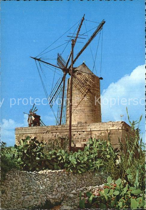 Malta Alte Windmuehle Kat. Malta
