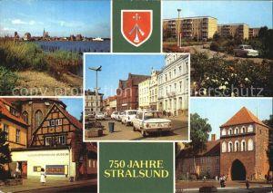 Stralsund Mecklenburg Vorpommern Hafen Leninplatz Friedrich Wolff Strasse Kulturhistorisches Museum Kat. Stralsund