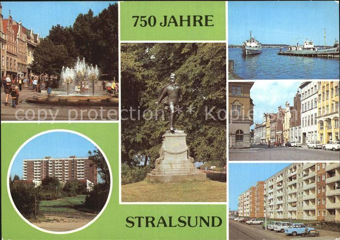 Stralsund Mecklenburg Vorpommern Ossemeyer Strasse Rudolf Leonhard Weg Ferdinand Schill Denkmal Kat. Stralsund