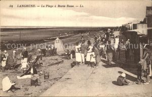 Langrune sur Mer Plage a maree basse Strand Kat. Langrune sur Mer