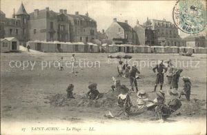 Saint Aubin sur Mer Calvados La Plage Strand Kat. Saint Aubin sur Mer