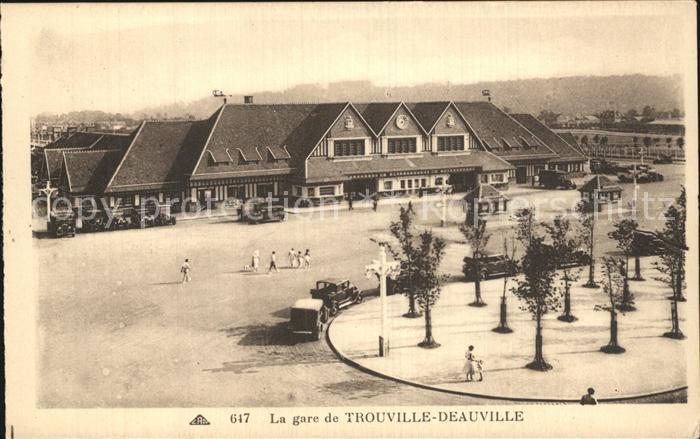 Trouville sur Mer La gare de Trouville Deauville Bahnhof Kat. Trouville sur Mer
