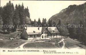 Saint Pierre de Chartreuse Isere Massif de la Grande Chartreuse Maison Forestiere du Col de la Charmette Kat. Saint Pierre de Chartreuse