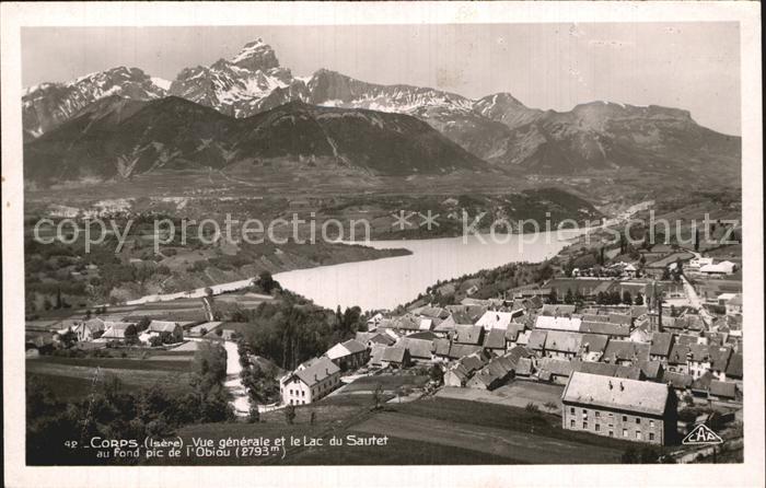 Corps et le Lac du Sautet Pic de l Obiou vue aerienne Kat. Corps