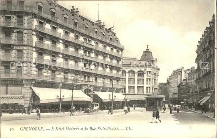 Grenoble Hotel Moderne et la Rue Felix Poulat Kat. Grenoble