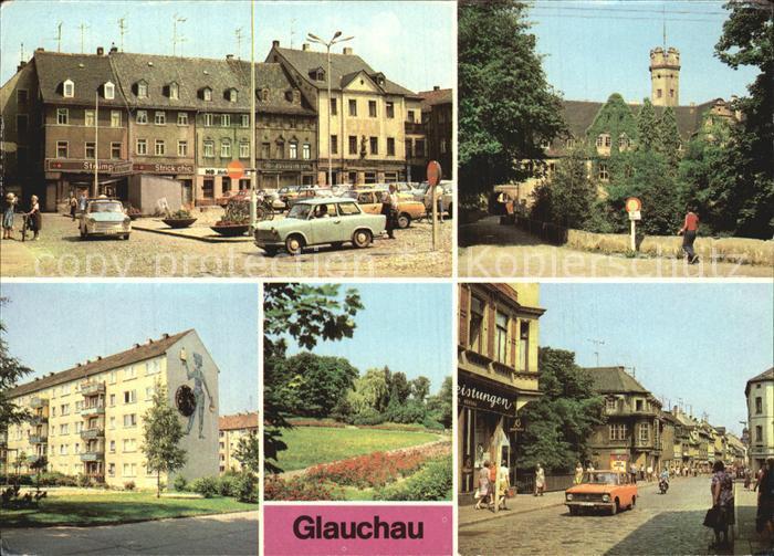 Glauchau Markt Schloss Forderglauchau Rosarium Kat. Glauchau