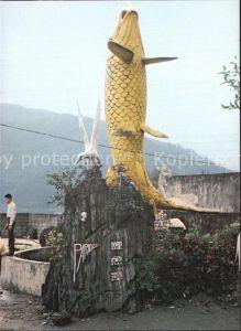 Taiwan Carp Lake Fischskulptur Kat. Taiwan
