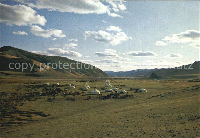 Mongolei Zelte Zabhan Aimak Kat. Mongolei