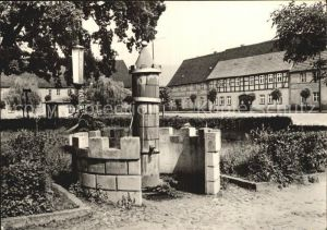 Uebigau Elster Marktplatz Brunnen  Kat. Uebigau Wahrenbrueck