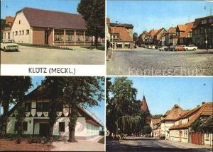 Kluetz HO Gaststaette Kluetzer Eck Markt Ferienheim VEB DEFA Kopierwerke Kat. Kluetz