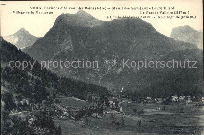 Allevard les Bains Isere Massif des Sept Laux Alpes Francaises Kat. Allevard