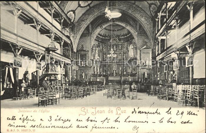 Saint Jean de Luz Interieur de l Eglise Kat. Saint Jean de Luz