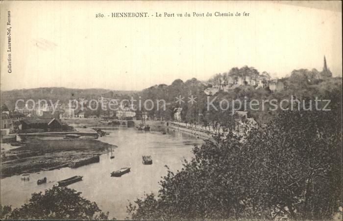 Hennebont Le Port vu du Pont du Chemin de fer Kat. Hennebont