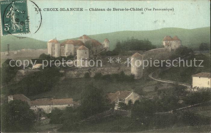 La Croix Blanche Chateau de Berze le Chatel Kat. La Croix Blanche
