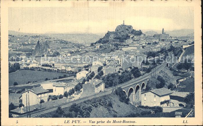 Le Puy en Velay Vue prise du Mont Ronzon Viaduc Chemin de fer Kat. Le Puy en Velay