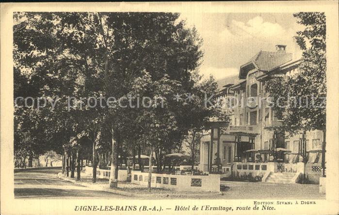 Digne les Bains Hotel de l Ermitage Route de Nice Kat. Digne les Bains