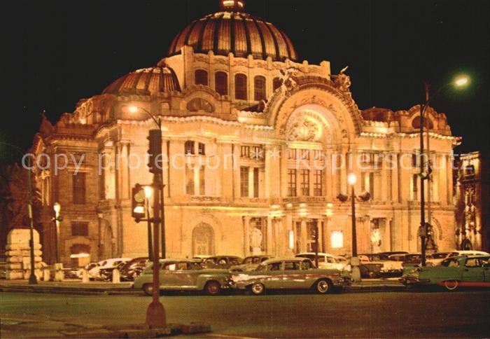 Mexico City Palace of Fine Arts at night Kat. Mexico