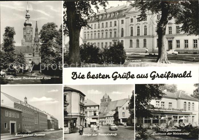 Greifswald Rubenow Denkmal Dom Universitaet Zoolog Institut Str der Freundschaft HOG Clubhaus der Universitaet