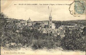Sille le Guillaume Vue generale Eglise Chateau Hospice Kat. Sille le Guillaume