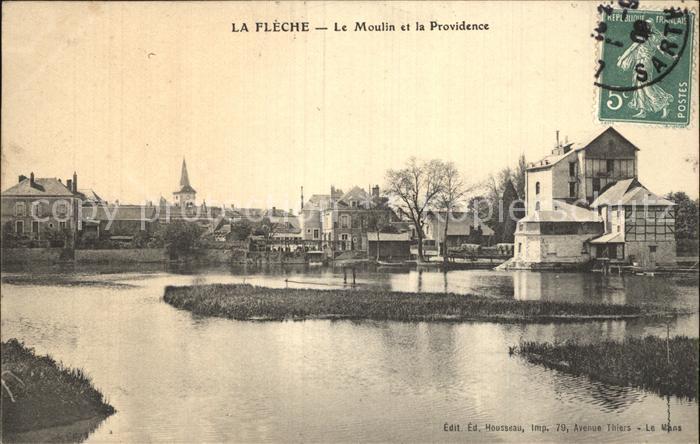 La Fleche Le Moulin et la Providence Kat. La Fleche