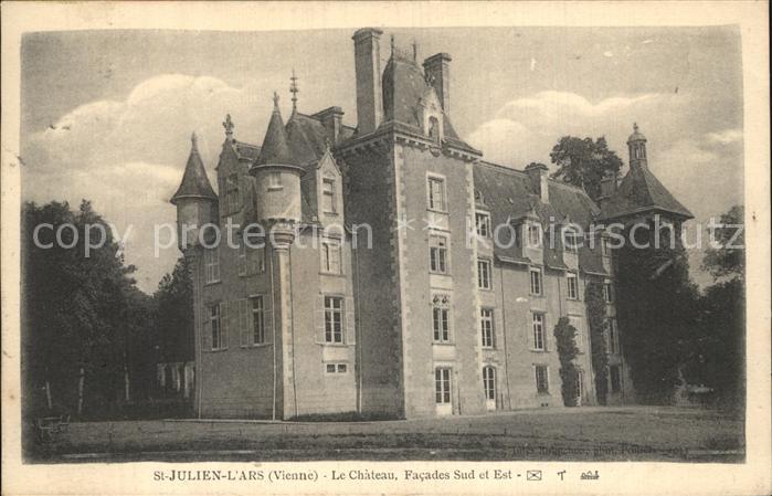 Saint Julien l Ars Chateau Facades Sud et Est Schloss Kat. Saint Julien l Ars