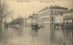 Paris Inondations Quai de la Rapee La Crue de la Seine Hochwasser Katastrophe Kat. Paris