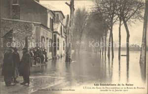 Paris Inondations de la Seine Hochwasser Katastrophe Kat. Paris