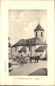 Villiers sur Morin Eglise Kirche Pferdefuhrwerk Kat. Villiers sur Morin