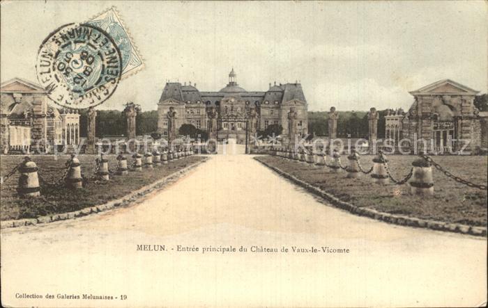 Melun Seine et Marne Entree principale du Chateau de Vaux le Vicomte Kat. Melun