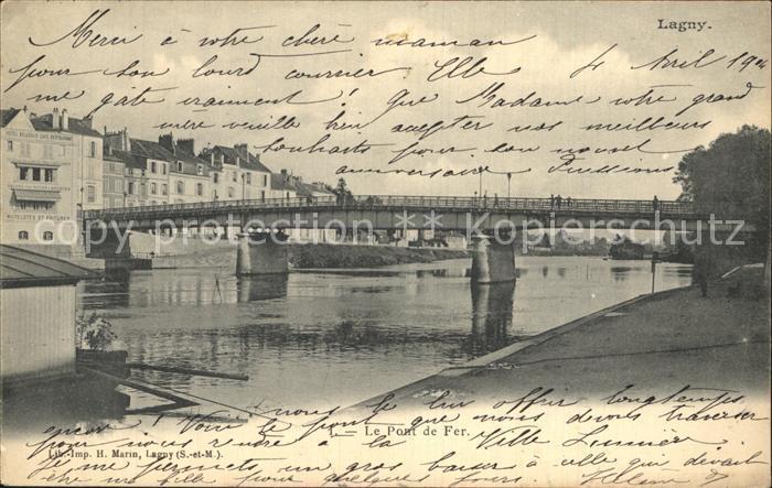 Lagny sur Marne Le Pont de Fer Kat. Lagny sur Marne