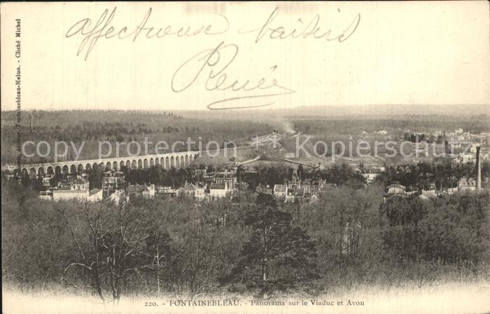 Fontainebleau Seine et Marne Panorama sur le Viaduc et Avon Kat. Fontainebleau