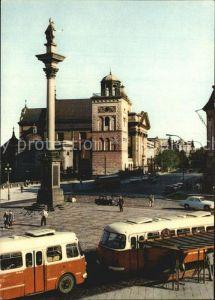 Warszawa Widok na ulice Krakowskie Przedmiescie z placu Zamkowego Kat. Warschau Polen