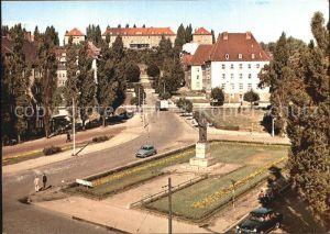 Gorzow Wielkopolski Fragment miasta pomnik Adama Mickiewicza Kat. Gorzow Wielkopolski