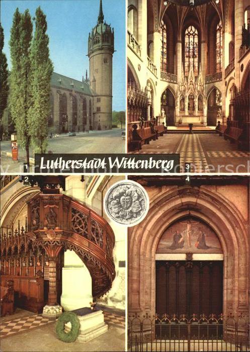 Wittenberg Lutherstadt Schlosskurche Thesentuer Luthers Grab Kat. Wittenberg