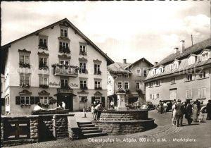 Oberstaufen Marktplatz Gasthof Adler  Kat. Oberstaufen