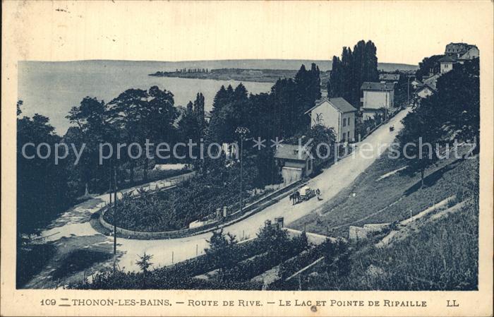 Thonon les Bains Route de Rive Lac Pointe de Ripaille Kat. Thonon les Bains