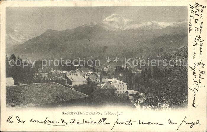 Saint Gervais les Bains Vue generale et le Mont Joli Alpes Kat. Saint Gervais les Bains