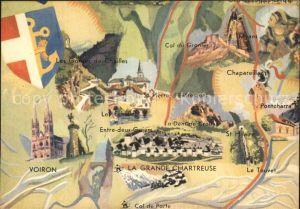 Saint Pierre de Chartreuse Isere La Grand Chartreuse et le Gresivaudan Kuenstlerkarte Kat. Saint Pierre de Chartreuse