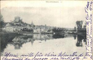 Montrichard Vue generale Bords de la Riviere Pont Chateau Kat. Montrichard