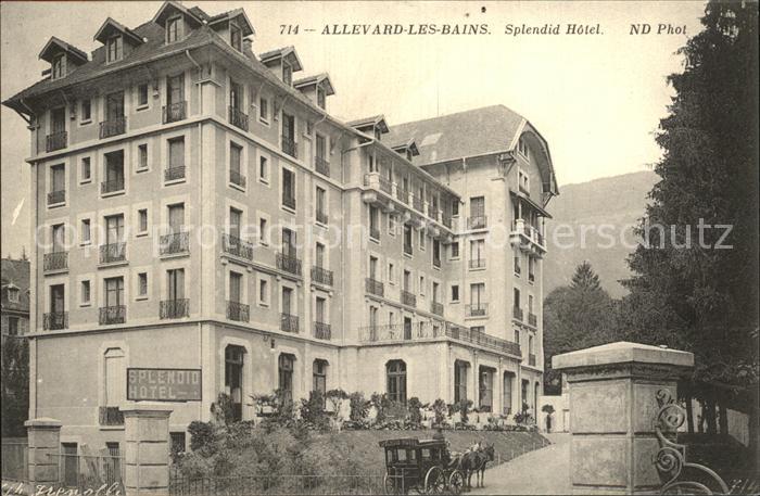 Allevard les Bains Isere Splendid Hotel Pferdedroschke Kat. Allevard